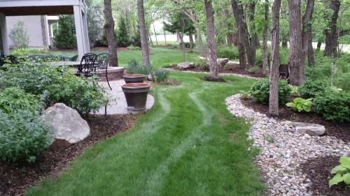 Medium Of Big Country Lawn And Landscape