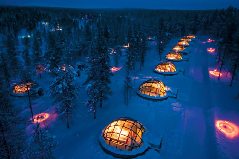 Igloo Village Kakslauttanen Glass igloo