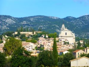 Town of Bedoin, beginning point for ascent of Mont Ventoux