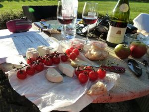 The perfect picnic dinner in Burgundy