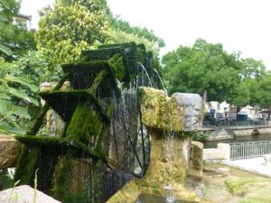 Operational water wheels add to the town's charm