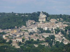 A view of Bonnieux from Lacoste