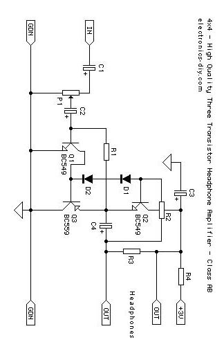 mini amplifier with 3 transistor