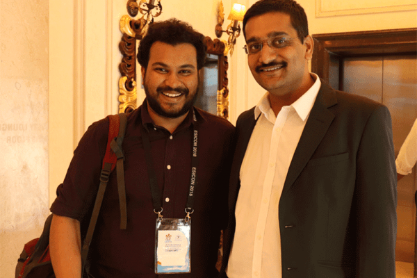 Clarion Smith and Dr Saurabh Gupta from ExperimentsWithSugar team at ESICON 2018