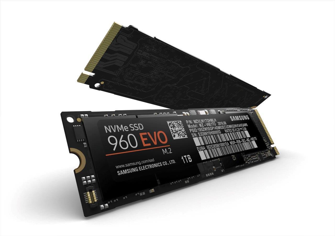 Представлены твердотельные накопители Самсунг 960 Pro и960 Evo