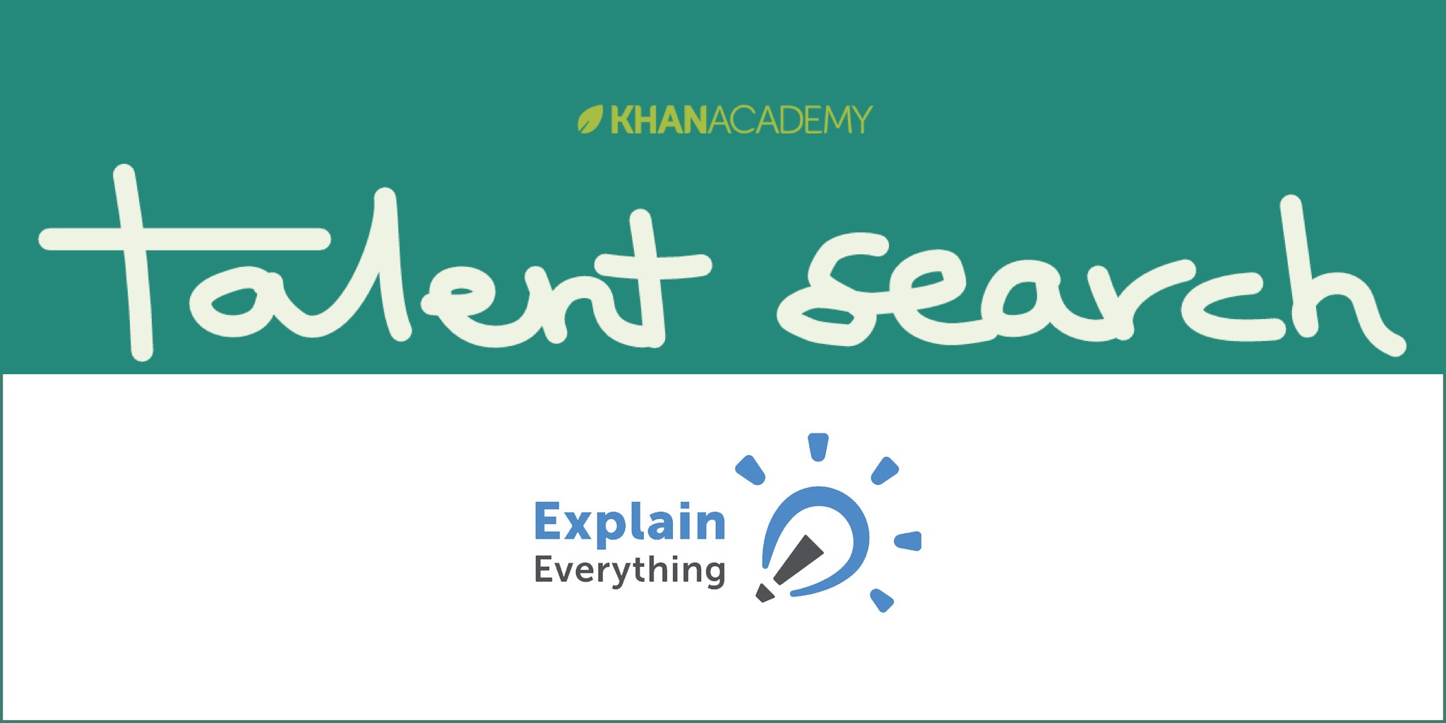 Khan Academy Explain Everything And Khan Academy Talent Search Explain
