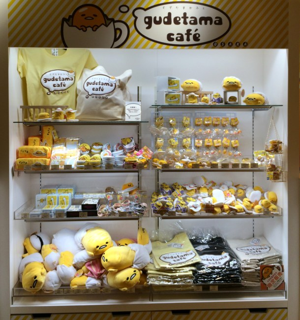 Merchandise! Tip: Do buy your gudetama merchandise from the cafe as we found them to be CHEAPER than all the other shops around Japan! Surprise surprise!