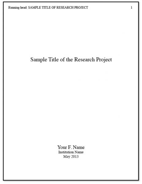 examples of a title page