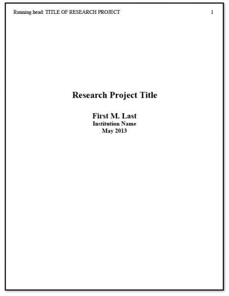 apa format example title page - Towerssconstruction