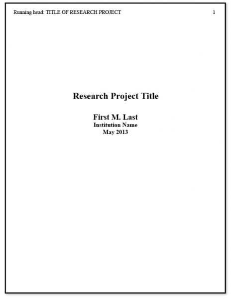 sample title page apa