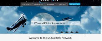 Prototipo de nuevo diseño de MUFON. Además incluiría una Base de Datos más accesible y amigable, y otras herramientas informativas.