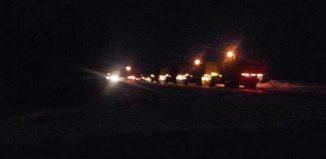 """Fotografía de operativo nocturno de militares canadienses en el lago. Se cree que estarían """"limpiando"""" la zona OVNI"""