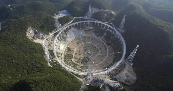 Radiotelescopio chino Five hundred meter Aperture Spherical Telescope FAST Radio telescope