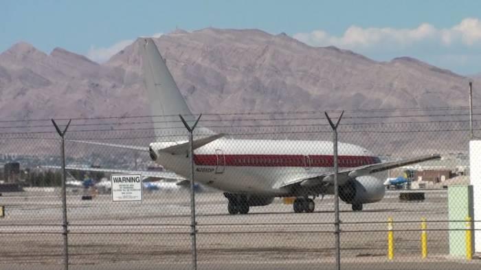 Aviones secretos de Janet Airlines vistos en Las Vegas.