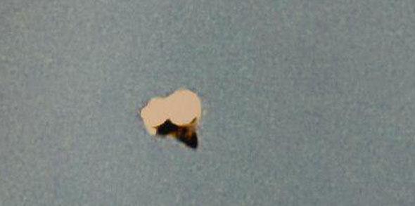 Ampliación de la anomalía aérea fotografiada en Peterborough, Inglaterra.