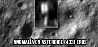 Objeto anómalo fotografiado en el asteroide 433 Eros. Noten como su estructura no concuerda con lo que le rodea.