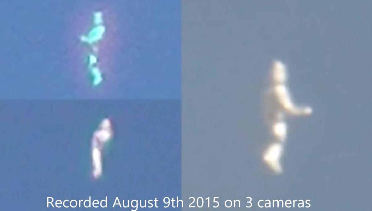 Extraño objeto luminoso con forma humanoide es grabado sobre California