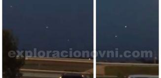 Varias objetos luminosos son grabados realizando movimientos en Pflugerville, Texas (EE.UU).