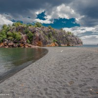 My first visit to Black Beach, Sliver Bay, Minnesota