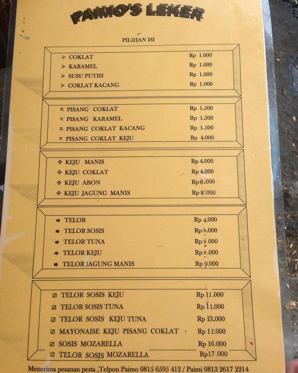 Daftar Harga leker paimo