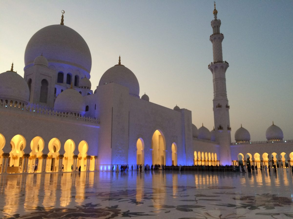 Paying a Visit to the Grand Mosque, Abu Dhabi