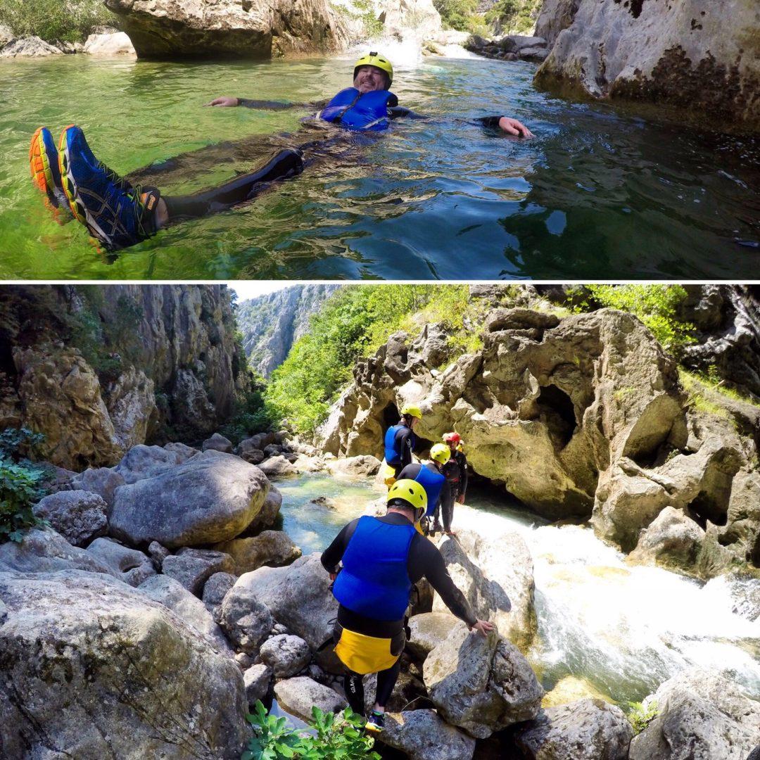 canyoning cetina omis croatia iris adventures