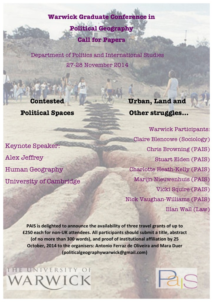 Warwick Political Geography Conference