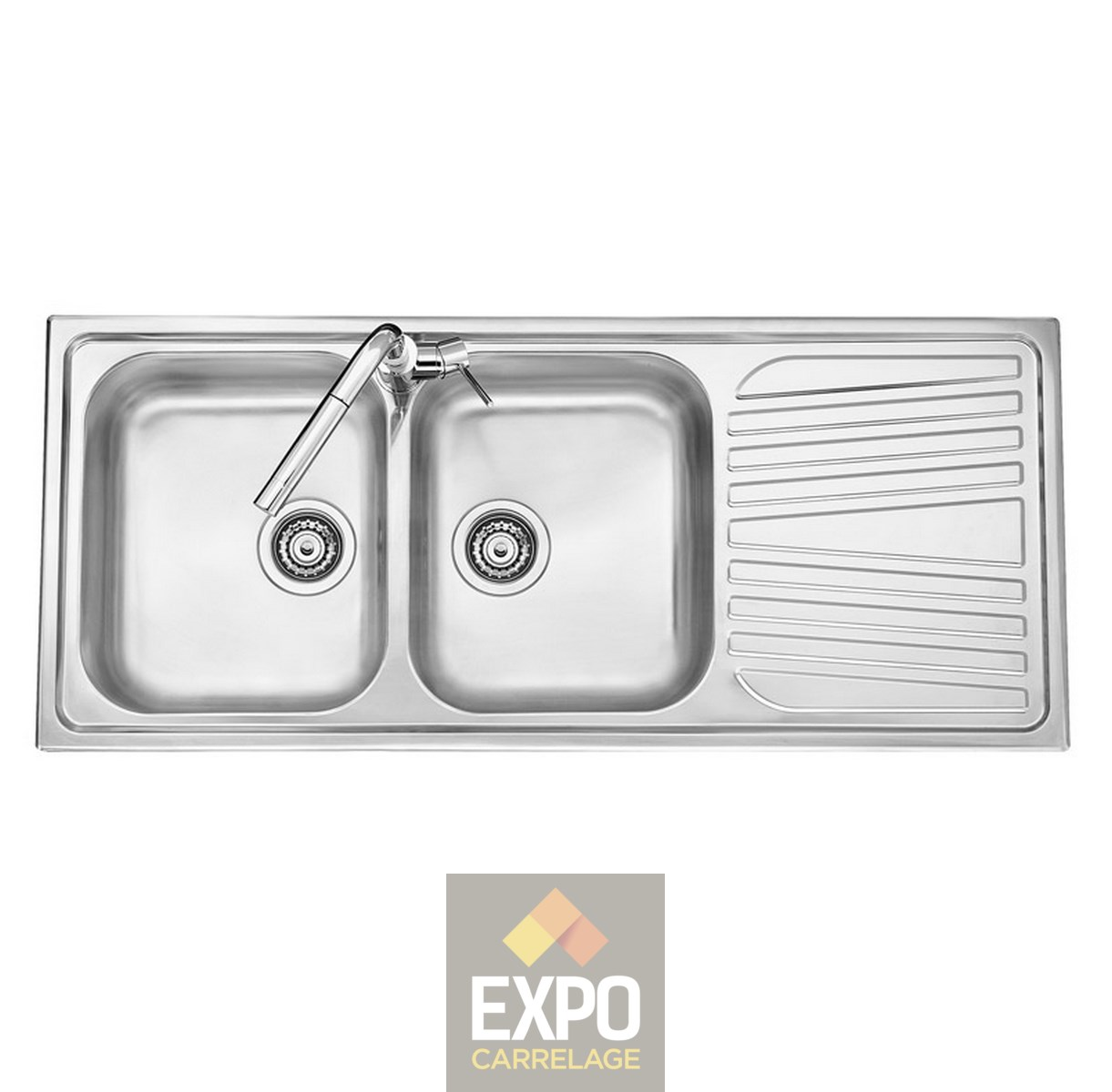 Evier Inox Deux Bacs Evier Inox Olympus 2 Bacs Expo Carrelage