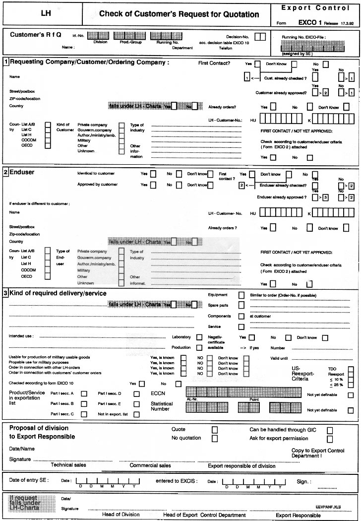Creation of Leybold\u0027s Internal Compliance System - export contract sample