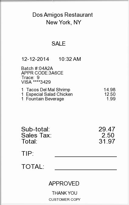 receipt maker template