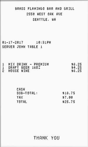 fake receipt template