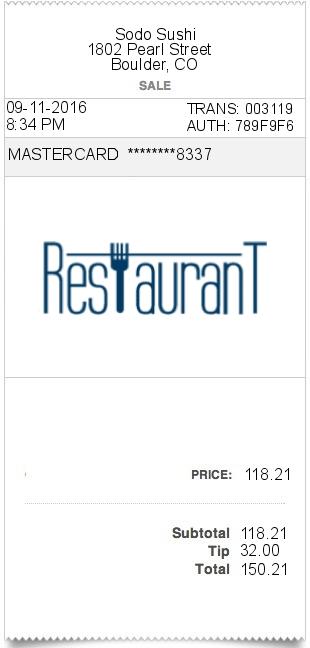 restaurant expense