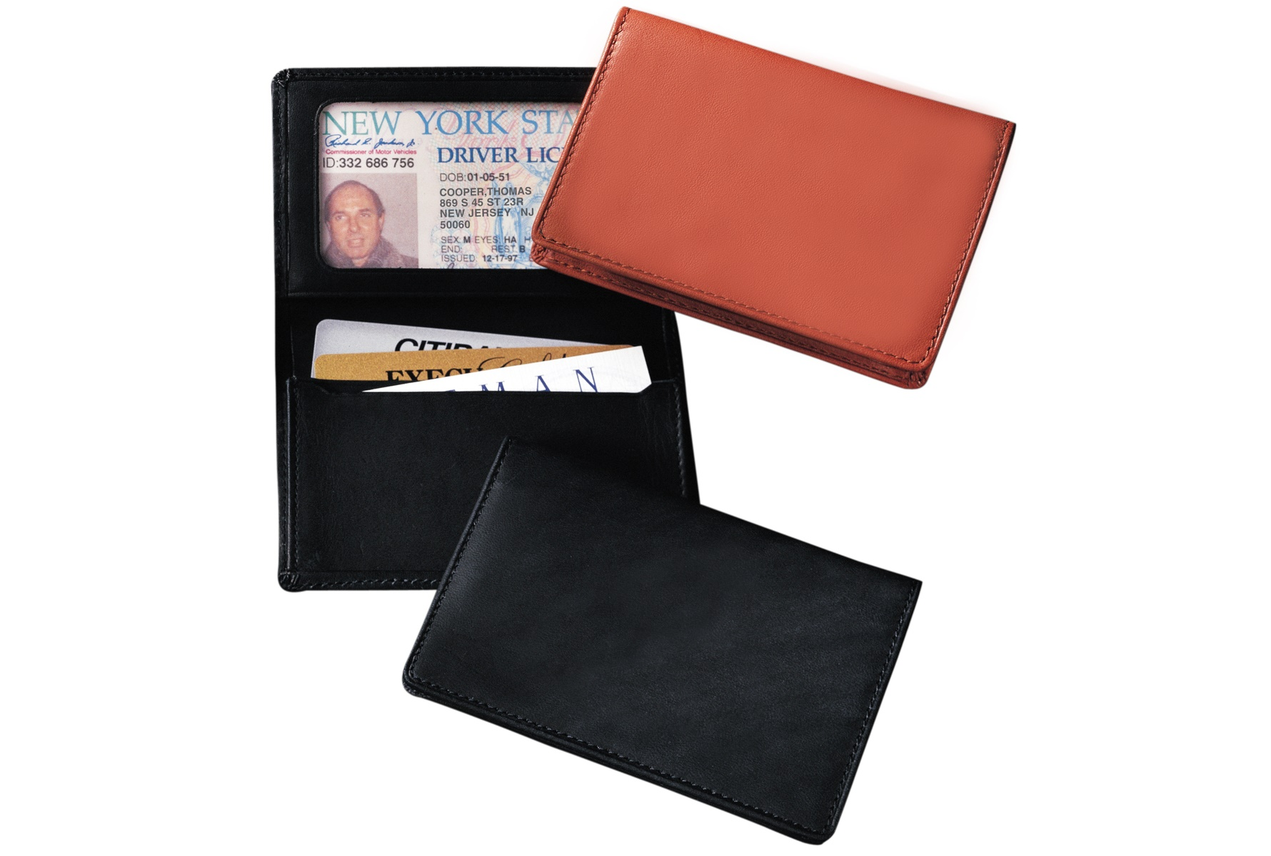 Leather Id Card Holder Express Impressions Inc
