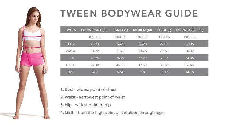 Size Chart Expressions Dancewear