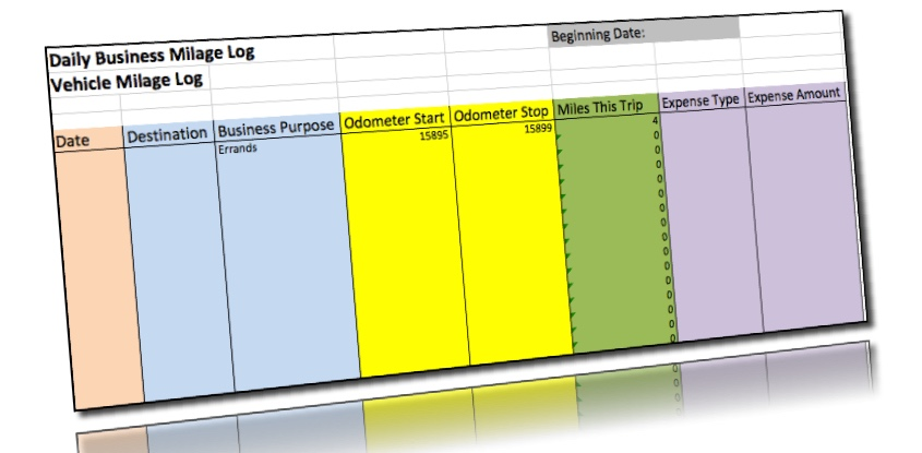 Excel Mileage Log Template ExpressMileage