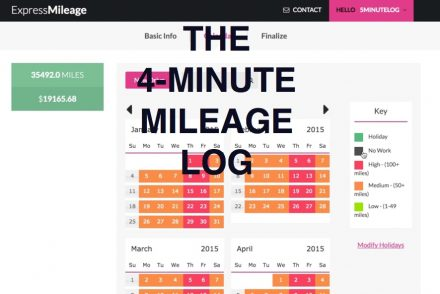 Excel Mileage Log Template ExpressMileage - mileage log template