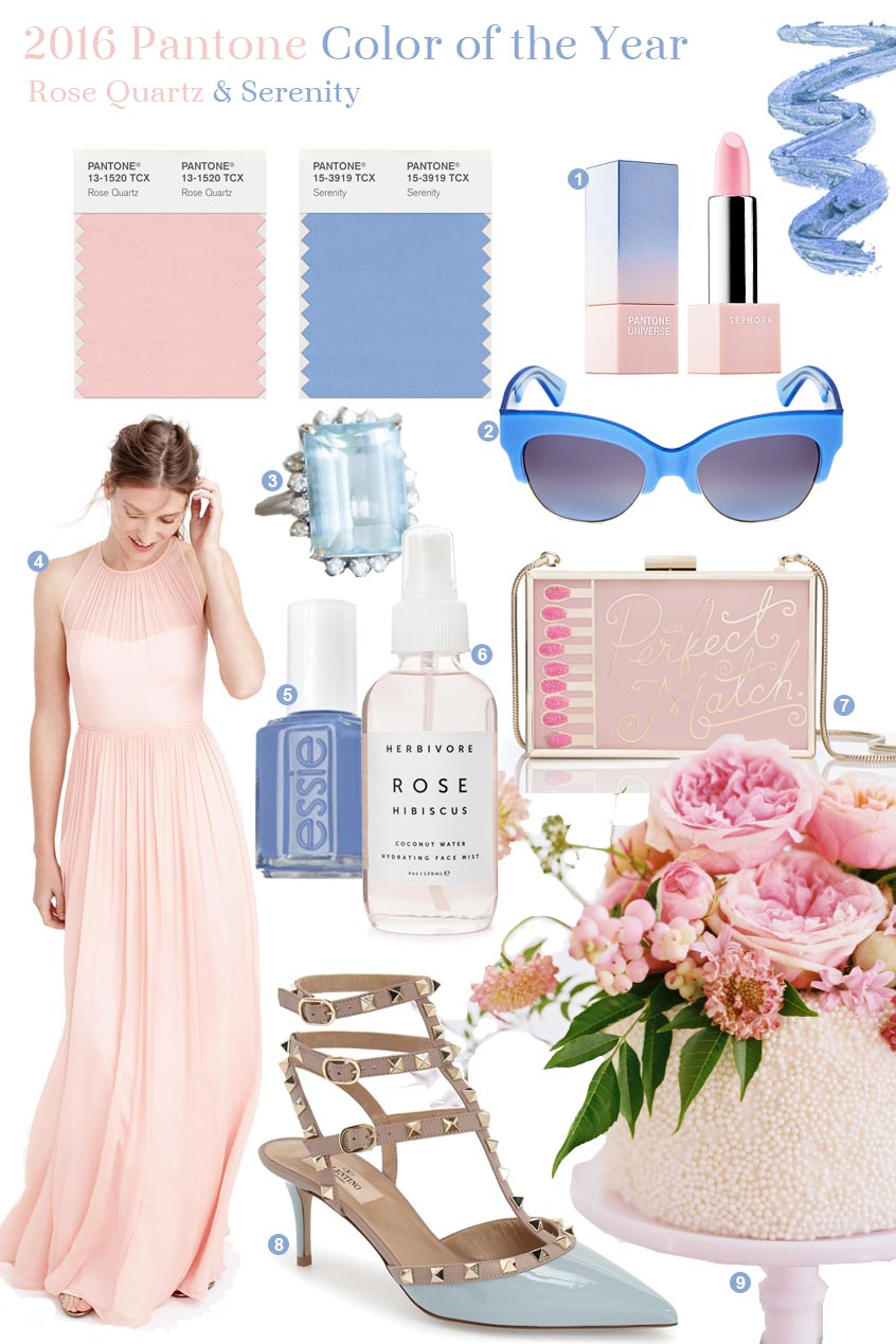 Pantone Color 2016 Fabulous Finds 2016 Pantone Color Of The Year Exquisite Weddings