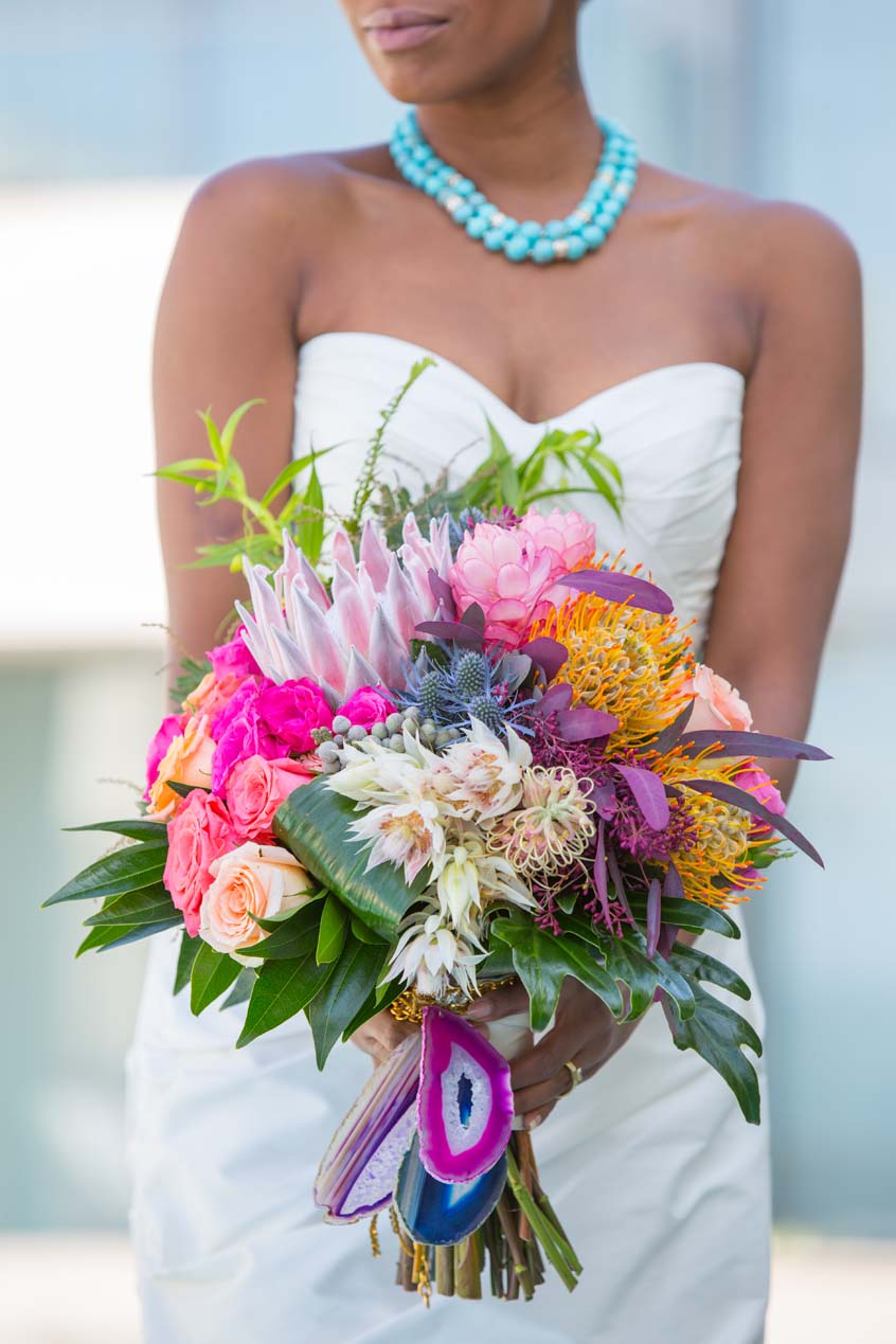 Ashley Furniture San Diego Wedding Decor: Tropical Bouquet Ideas & Beachy Color