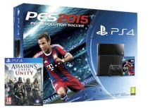 Sony PlayStation 4 - 500GB & PES 2015 & Assassin's Creed Unity