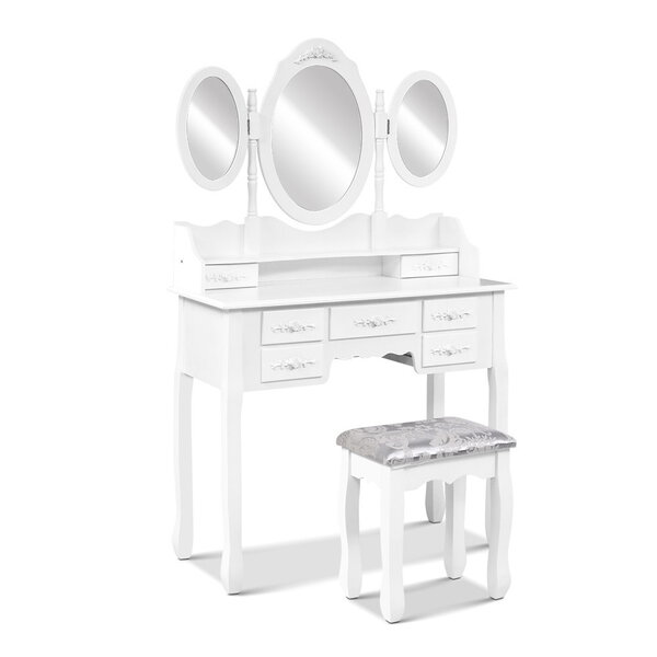 Dressing Table Australia 7 Drawer Dressing Table W Mirror White Afterpay Zippay Zipmoney