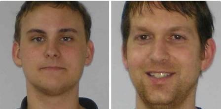 Os bombeiros Alex Quinn, de 22 anos, Tony Grider, de 41, ficaram feridos no acidente