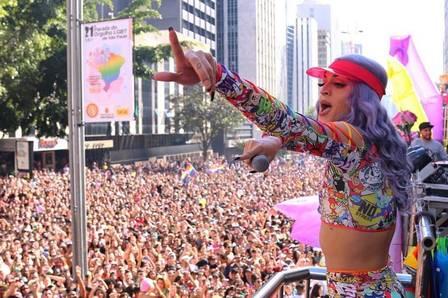 Pabblo Vittar na Parada LGBT