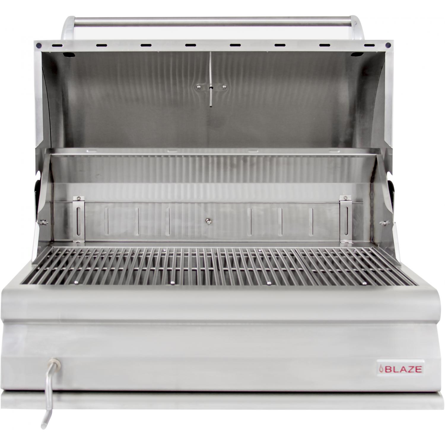 Rvs Bbq Blaze 32 Inch Built In Stainless Steel Charcoal Grill With