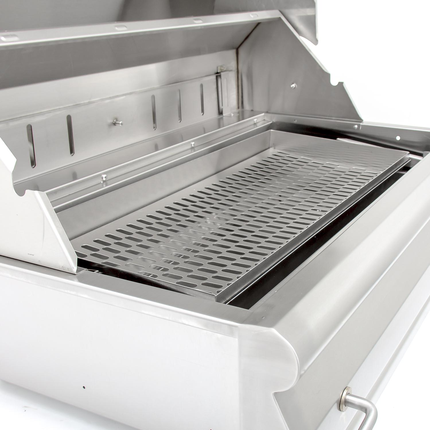 Grill Tray Blaze 32 Inch Built In Stainless Steel Charcoal Grill With