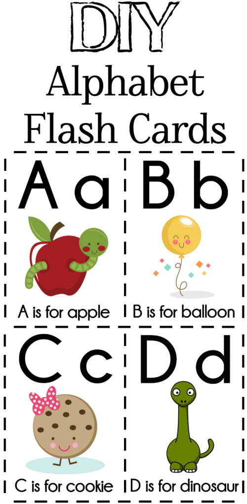 DIY Alphabet Flash Cards