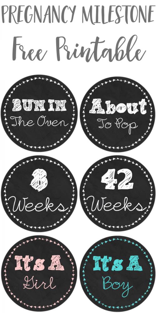 Pregnancy Milestone FREE Printable Stickers