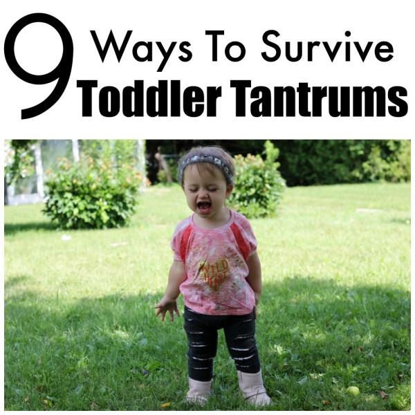 9 Ways To Survive Toddler Tantrums