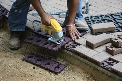 Build A Patio With Composite Pavers Extreme How To