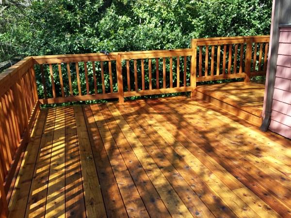 cedar deck after 2