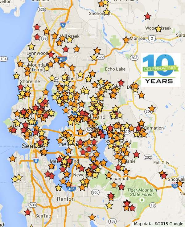 10 years clients map